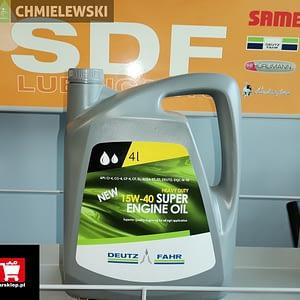 Oryginalny olej silnikowy Deutz-Fahr SUPER ENGINE OIL 15W-40 4 litry 04439653.3