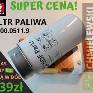 FILTR PALIWA DEUTZ-FAHR AGROTRON M600 0.900.0511.9